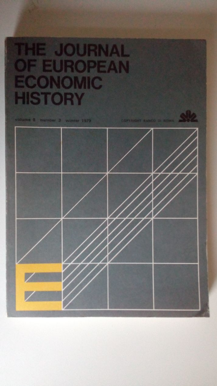 THE JOURNAL OF EUROPEAN ECONOMIC HISTORY - 1980 - VOLUME 9 NUMBER 2